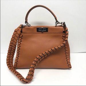 FENDI peekaboo satchel handbag